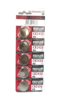 Maxell Lithium Battery CR2450 Pack of 5