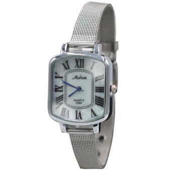 Medissa Unisex Analog Stainless Steel Wrist Watch 2384(Silver/White) - 2