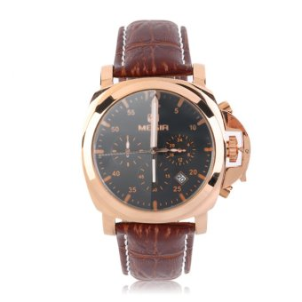 Megir Leather Strap Men's Watch 3006 (Brown)