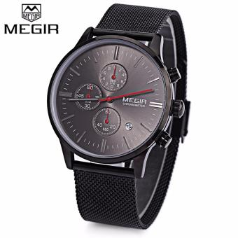 Megir Stainless Steel Strap Men's Watch SS2011 (Black)