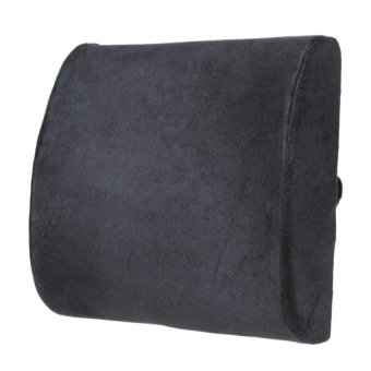 Memory Foam Lumbar Back Support Cushion Pillow for Office Home Car Seat Chair (Black) - intl