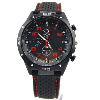 Men Cycle Racing Stainless Sl Sport Analog Quartz Watches Red