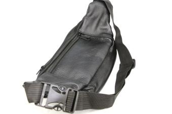 Men Leather Pockets Waist Bag Sports Leisure Waterproof Multi - Functional Business Cashier Male Bag - 2