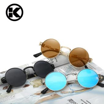 Men Round Sunglass Steampunk Coating Glasses Vintage Retro Outdoor Lentes Oculos of Male Sun - intl - 3
