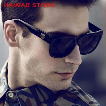 Men Sunglasses Original Top Designed Polarizer UV400 Driving Mirror Square Black Sunglass Eyewear Sun Glasses for Ladies and Gentlemen - 3