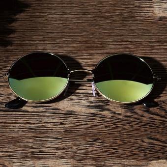 Men Women Retro Vintage Round Mirrored Sunglasses Eyewear Outdoor Sports - intl - 3