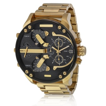 Men's Fashion Luxury Watch Stainless Steel Analog Quartz Sport Mens Wristwatches - intl