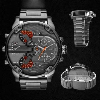 Men's Fashion Luxury Watch Stainless Steel Sport Analog Quartz Mens Wristwatch Black