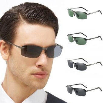 Men's Polarized 100%UV400 HD Night Vision Driving Glasses Aviator Sunglasses - intl