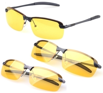 Men's Polarized Driving Sunglasses Yellow Lens Night Vision Driving - 3