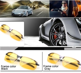Men's Polarized Driving Sunglasses Yellow Lens Night Vision Driving - 2