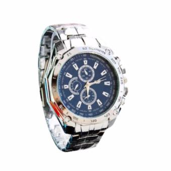 Men's Blue Steel-belt Strap Watch C-XY-3999 (Blue)