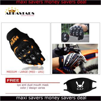 Men's Orange Black KTM Gloves Motorcycle Gloves Full Finger forStreet Bike