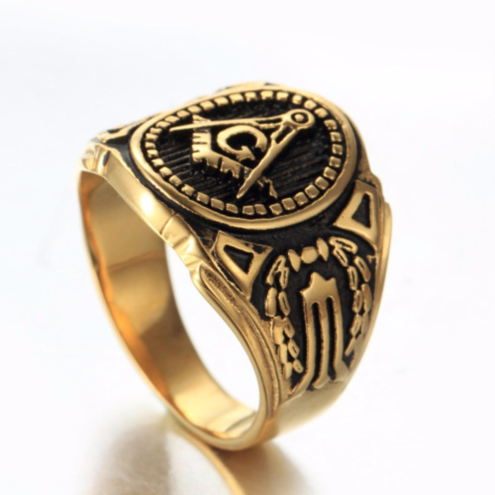 of thick masonic text rings itm ebay twobands freemason knights ring templar band bold