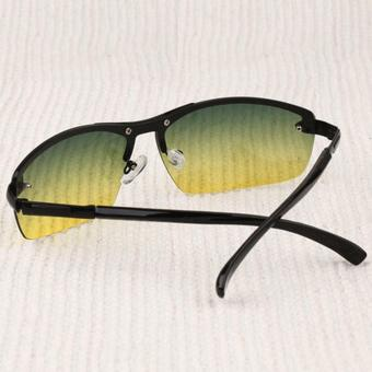 Mens Sunglasses Day and Night Driving Sun Glasses for Men Metal Frame Rimless Polarized Brand Vintage Vision Goggles Male Oculos - Intl - 3