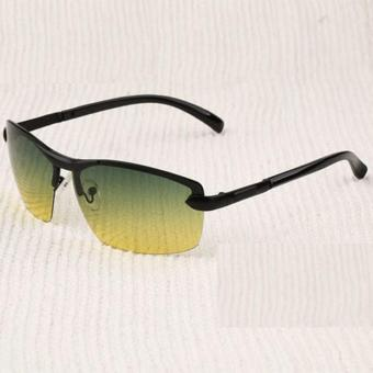 Mens Sunglasses Day and Night Driving Sun Glasses for Men Metal Frame Rimless Polarized Brand Vintage Vision Goggles Male Oculos - Intl - 2
