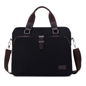 Mens Vintage Canvas Messenger Laptop Bag 14 Inch retro Computer Briefcase Shoulder Handle Travel Messenger Bags For Men - intl