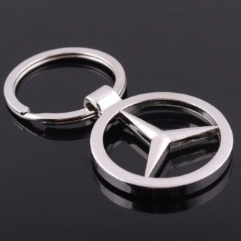 Mercedes Benz Heavy Metal Alloy Chrome Key Chain Ring