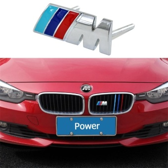Metal Auto Front Hood Front Grilles Badge Emblems M POWER For BMW M M3 M5 E60 E63 E90 E92 E93 X1 X3 X6 X5 E39 E59 E61 F01 E66 - intl