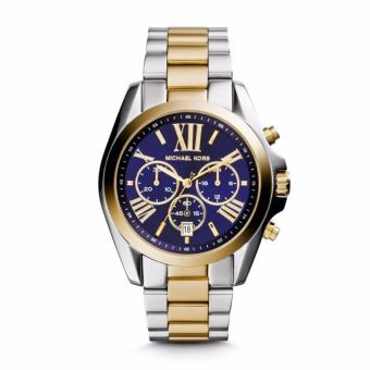 Michael Kors Bradshaw Chronograph Blue Dial Two-tone Ladies Watch MK5976.