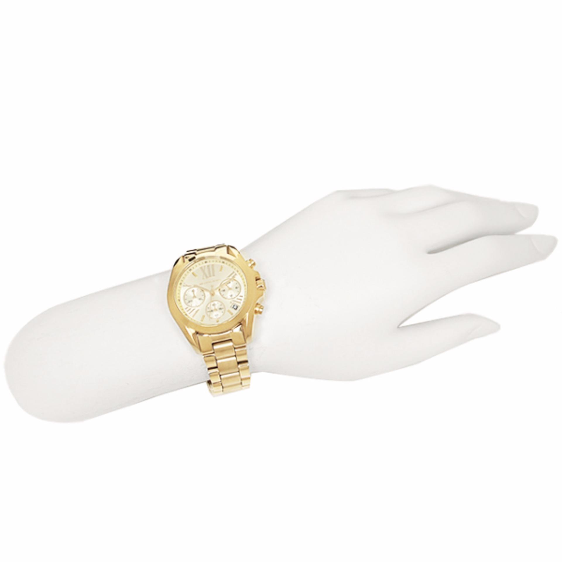 65c2eb595dca ... Michael Kors Bradshaw Chronograph Champagne Dial Gold-tone Women s  Watch - MK5798 ...