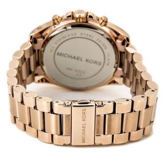 Michael Kors Bradshaw Chronograph Unisex Rose Gold Stainless Steel Strap Watch MK5503 - 5