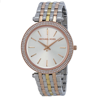 MICHAEL KORS Darci Silver Dial Tri-tone Stainless Steel Ladies Watch MK3203