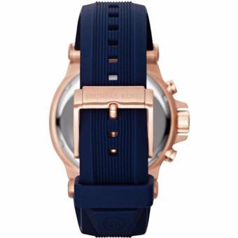 Michael Kors Dylan Navy Dial Rose Gold-tone Navy Silicone StrapMen's Watch MK8295 - 4