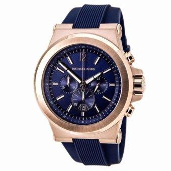 Michael Kors Dylan Navy Dial Rose Gold-tone Navy Silicone StrapMen's Watch MK8295 - 2