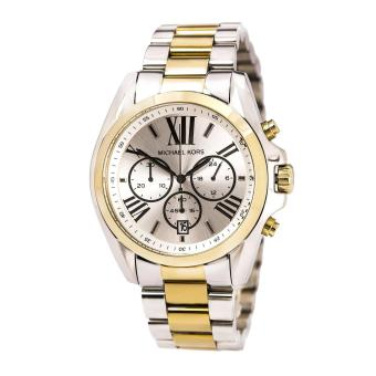 Michael Kors MK5855 Women's Bradshaw Silver Dial Two Tone Chronograph Watch