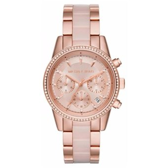 MICHAEL KORS Ritz Quartz Michael Kors Chronograph Rose Dial RoseGold-tone Pink Acetate Ladies Watch MK6307