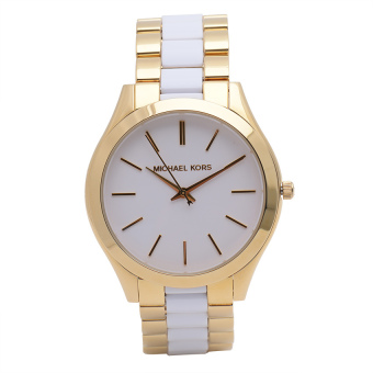 Michael Kors Runaway Women's Gold-tone Stainless Strap Watch MK4295