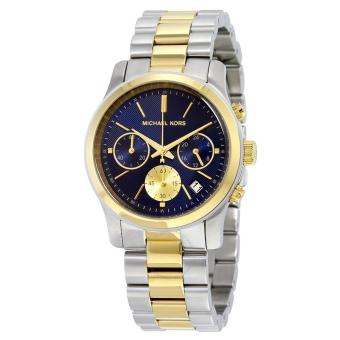 MICHAEL KORS Runway Chronograph Blue Dial Two-tone Ladies Watch