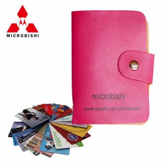 Microbishi Wallet Holder Pocket Business ID Credit Card CaseColorful Purse Coin bag Pouch (Pink)