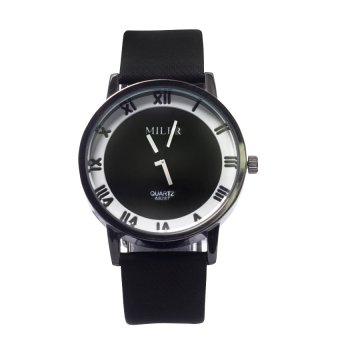 Miler 1020 Roman Style Leather Watch (Black) #127 Price Philippines