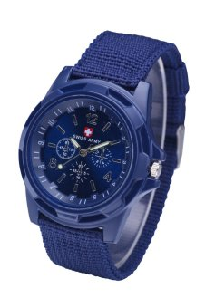 Military Quartz Swiss Army Watch Canvas Strap Fabric Analog ClockBlue Price Philippines