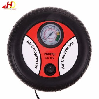 Mini Air Compressor DC12v Portable Size Mini Tyre Inflating Pump 12V Vehicle portable pump for car,motorcycle bicycle ball etc. - 2