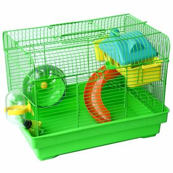 Mini Animals Play Garden for Hamster / Rodent / Mice Cage(32x20x26cm) - Green