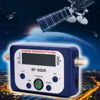 Mini LCD Digital Satellite Finder Meter Signal Strength Dish Sat Directv Compass - intl