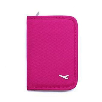 Mini Passport Holder (Pink) with Free Security Credit Card Wallet(Violet)
