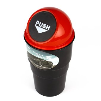 Mini Trash Can Rubbish Bin Garbage Dust Case Storage Holder For Home Office Auto Vehicle Car(Red) - 3