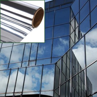 Mirror Window Film One Way Silver Privacy Glass Sticker Reflective 12 in x 24 ft - intl