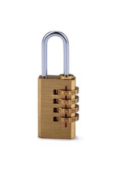 Moonar 4 Digit Metal Combination Security Plus Padlock