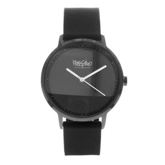 Mossimo Charles Unisex Black Silicone Strap Analog Watch MS-1708G-IPBBLK