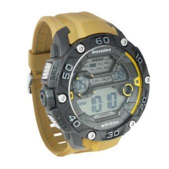Mossimo Michael Unisex Brown Silicone Strap Digital Watch MS-1505G-BRN - 2