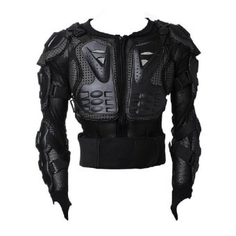 Motocross Racing Motorcycle Armor Protective Jacket Large (Black)