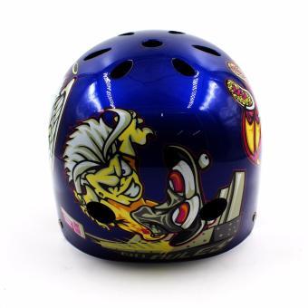 Motor Craze Half Face Crash Safety Do it Printed Passenger Helmet(Blue) - 2