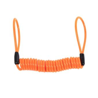 Motorcycle Alarm Disc Lock Antitheft Security Spring Reminder Coil Cable (Orange) - intl