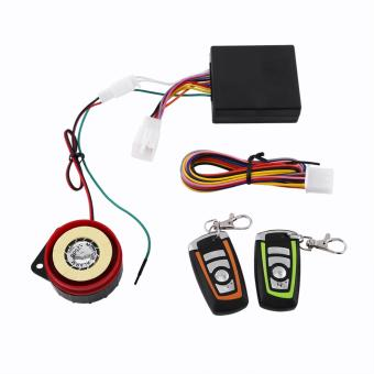 Motorcycle Anti-theft Security Alarm System Two-way Remote Control - intl