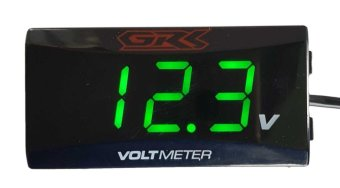 Motorcycle ATV Bike CAR Digital Volt Meter (green)